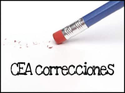 CEA correcciones